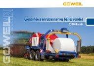 FR | Combinée à enrubanner les balles rondes | G5040 Kombi | Goeweil