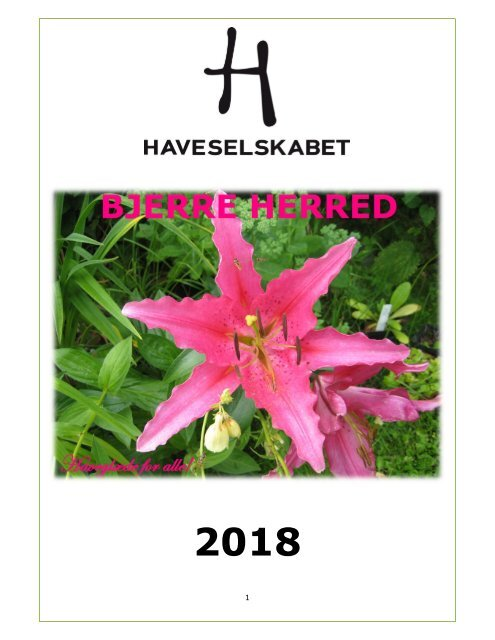 Årsprogram 2018 Bjerre Herred Kreds