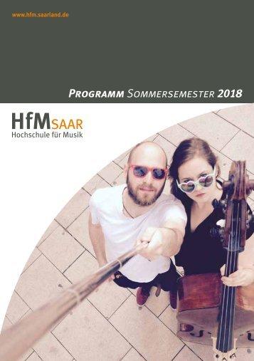 HfM Programmheft Sommersemester 2018