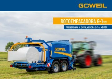 ES | Rotoempacadoras Prensadora y envolvedora | G-1 F125 Kombi | Goeweil