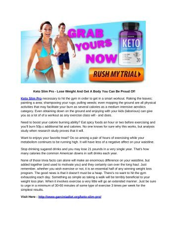 Keto Slim Pro - The Easiest Way to Burn Stubborn Fat