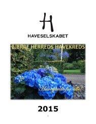 Årsprogram 2015 Bjerre Herred Kreds