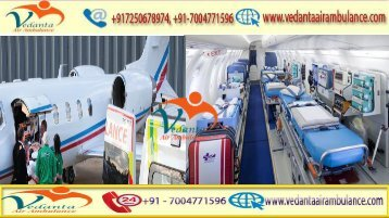 Vedanta Air Ambulance from Pune to Delhi with full ICU setup