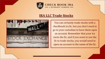 Self Directed IRA | Check Book IRA LLC