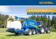 CZ | Lis na kulaté balíky | Kombinovaný lisovací a ovíjecí stroj | G-1 F125 Kombi | Goeweil