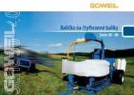 Balička na čtyřhranné balíky | Série 30Q - 40Q | Goeweil