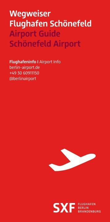 Wegweiser Flughafen Schönefeld