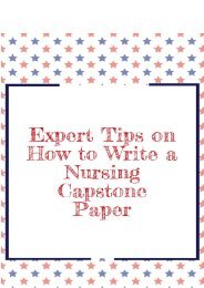 Expert Tips on How to Write a Nursing Capstone Paper