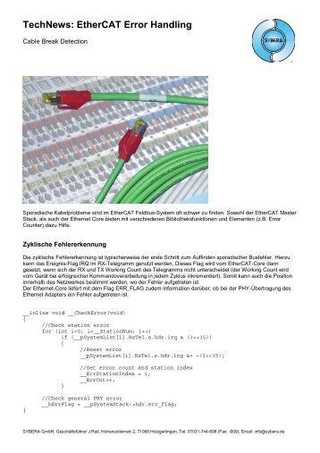 EtherCAT Error Handling