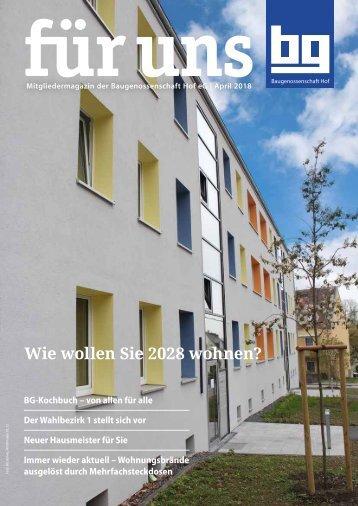 BG Hof: für uns - April 2018