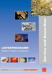 Lieferübersicht (PDF, 1.7 MB) - CARO-PROMETA Metallvertriebs ...
