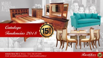 Catalogo Tendencias 2018 | Muebles Rustikor