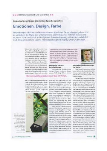 Emotionen, Design, Farbe - Casimir Kast GmbH