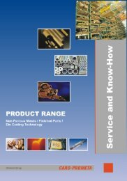 Product Range (PDF, 1.9 MB) - CARO-PROMETA Metallvertriebs ...