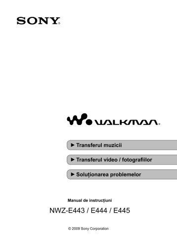 Sony NWZ-E445 - NWZ-E445 Mode d'emploi Roumain