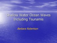 Shallow Water Ocean Waves Including Tsunamis - Earth to Class