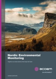 ACOEM Environment Nordic Environmental Monitoring brochure