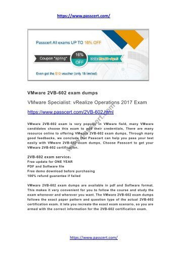 VMware 2VB-602 exam dumps