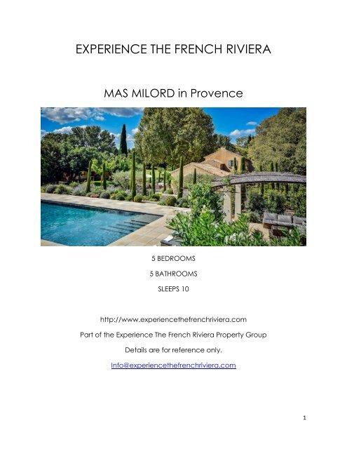 Mas Milord - Provence