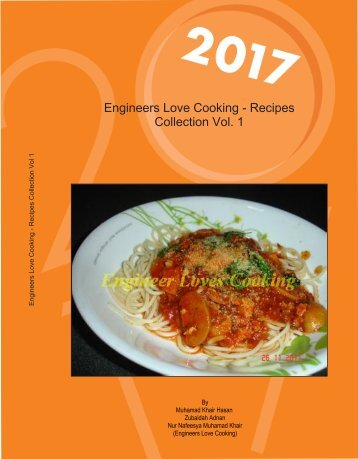 Engineers Love Cooking - Recipes Collection Vol. 1
