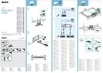 Sony KDL-42W805A - KDL-42W805A Guida di configurazione rapid Svedese