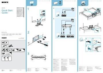 Sony KDL-42W805A - KDL-42W805A Guida di configurazione rapid Kazako