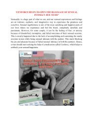 CENFORCE HELPS TO OPEN THE BLOCKAGE OF SENSUAL INTIMACY DUE TO ED