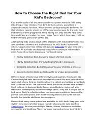 How to Choose the Right Bed for Your Kid's Bedroom?