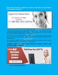 Veriozn Email Tech Support Number +1-888-664-3555