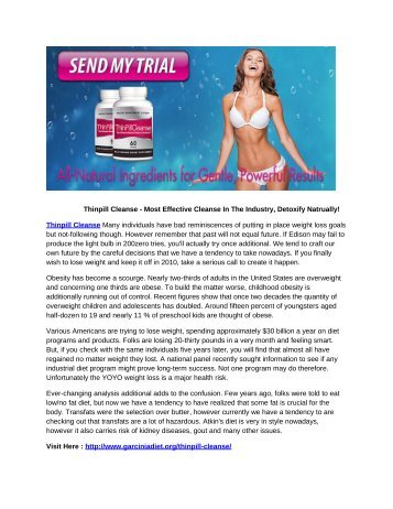 Thinpill Cleanse - Detox Your Body For Better Weight Loss