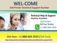 Dell Printer Technical Support Number 1-888-664-3555