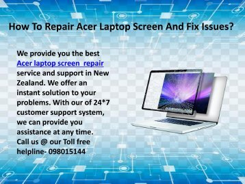 Acer Laptop Screen And Fix Issues