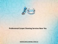 Professional Carpet Cleaning Services Near You - GSR Cleaning Services