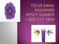 Telus Email Password Reset Number 1-888-315-9888 | Recovery
