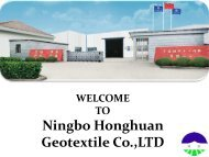 Buy Woven Geotextile products online at Ningbo Honghuan Geotextile Co., Ltd