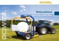 LT | Ritinių vyniotuvai | G50 Serija | Goeweil