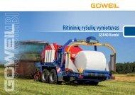 Ritininių ryšulių vyniotuvas | G5040 Kombi | Goeweil