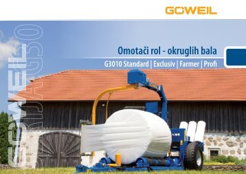 Omotači rol - okruglih bala | SERIJA G30 | Goeweil