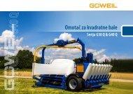 Omotač za kvadratne bale | Serija G30 Q & G40 Q | Goeweil