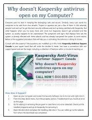 Why doesn't Kaspersky open on my PC