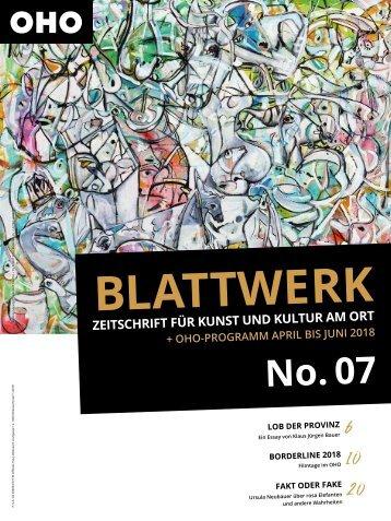 BLATTWERK AUSGABE No.7 – April bis Juni 2018