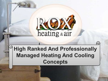 High Ranked And Professionally Managed Heating And Cooling Concepts