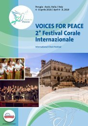 Voices for Peace 2018 - Program Book