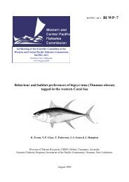 Behaviour and habitat preferences of bigeye tuna - Western and ...