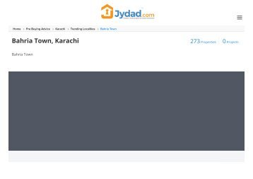Property for sale in Bahria Town karachi