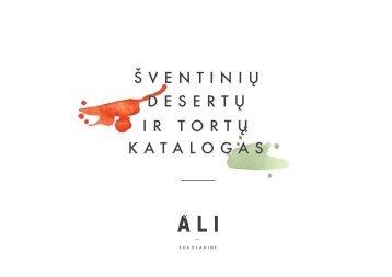 Šventinių tortų ir desertų katalogas ALI šokoladinė