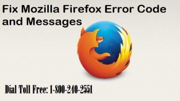 Fix Mozilla Firefox Error Codes and Messages 18002402551