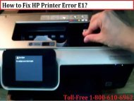 1-800-213-8289 How to Fix HP DeskJet Printer Error Codes E1