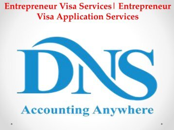 Entrepreneur Visa Services| Entrepreneur Visa Application Services