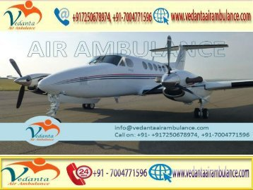 Vedanta Air Ambulance from Mumbai to Delhi provides best medical facility